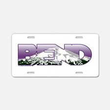 Bend Aluminum License Plate