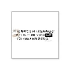 "Funny Anthropology Square Sticker 3"" x 3"""