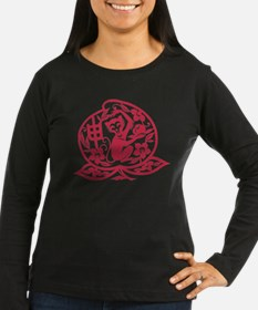 Chinese Papercut Zodiac Monke Long Sleeve T-Shirt