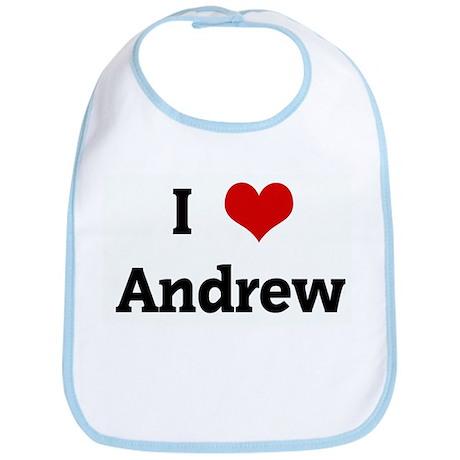 I Love Andrew Bib
