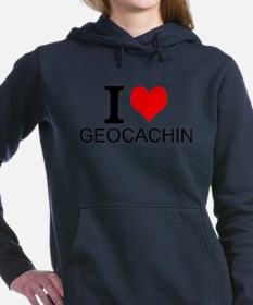 I Love Geocaching Women's Hooded Sweatshirt