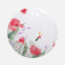 Flowers Painting Round Ornament