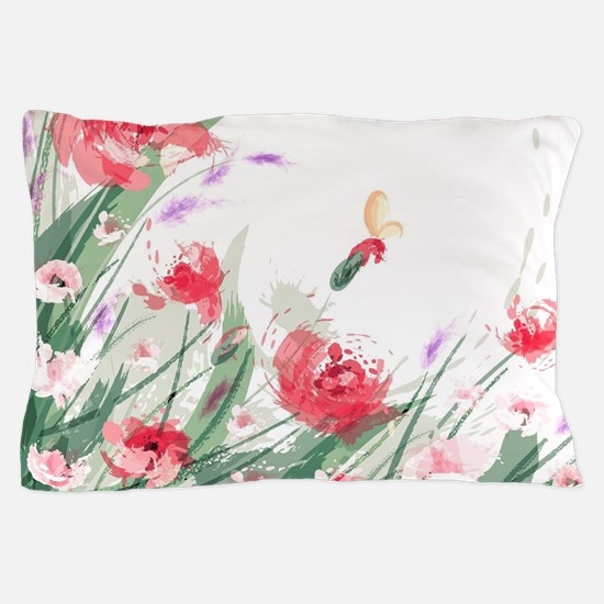 Flowers Painting Pillow Case