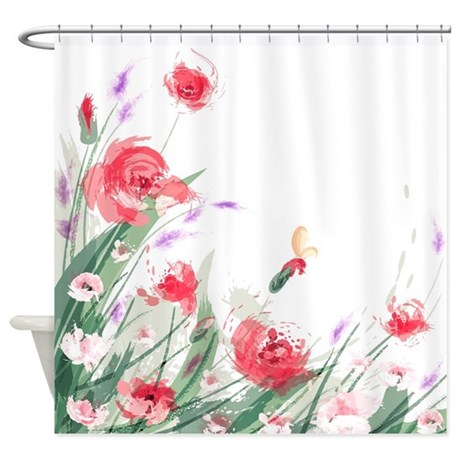 Flowers Painting Shower Curtain By FuzzyChair