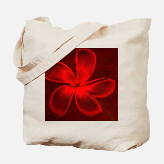 Flower Tropical Red Tote Bag