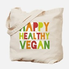 Happy Healthy Vegan Tote Bag