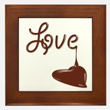 Love Chocolate Framed Tile