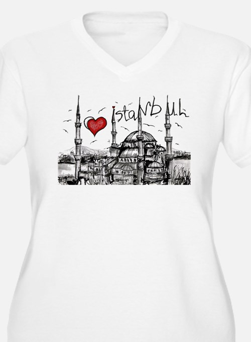 I love Istanbul Plus Size T-Shirt