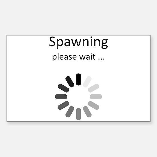 Spawning Please Wait - Gamer H Sticker (Rectangle)