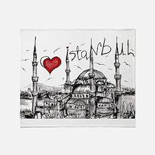I love Istanbul Throw Blanket