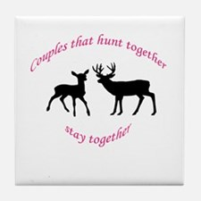 Cute Bucking Tile Coaster