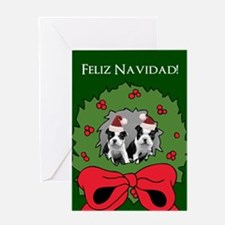 Happy Holidays Boston Terriers Greeting Cards