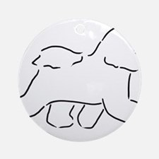 Bichon pen and ink Round Ornament