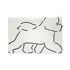 Bichon pen and ink Magnets