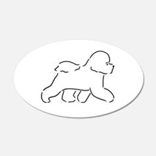 Bichon pen and ink Wall Decal