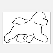 Bichon pen and ink Postcards (Package of 8)
