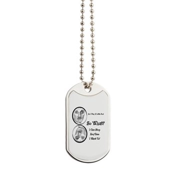 Funny Pool Hall Junkie Cartoon Dog Tags