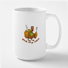 Funny Thanksgiving Gobble til ya Wobble Large Mug