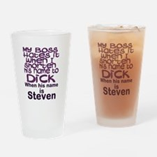 personalize boss humor Drinking Glass