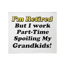 I'm Retired Throw Blanket