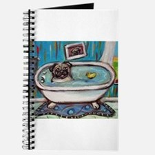 sweet pug bathtime Journal