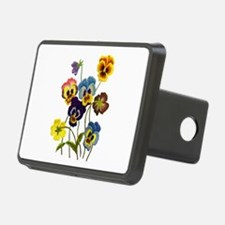 Colorful Embroidered Pansi Hitch Cover