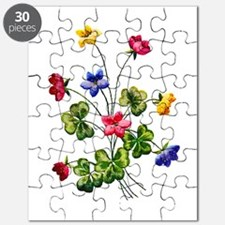 Colorful Embroidered Woodsorrel Puzzle