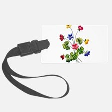 Colorful Embroidered Woodsorrel Luggage Tag