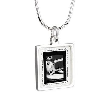 The Power Break Shot Billiards Silver Square Necklace