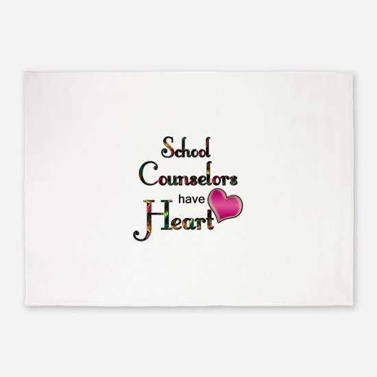 Teachers Have Heart counselors.png 5'x7'Area Rug