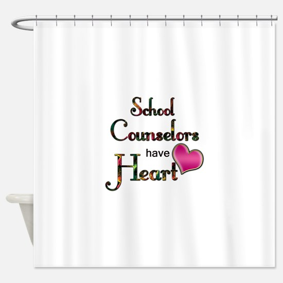 Teachers Have Heart counselors.png Shower Curtain
