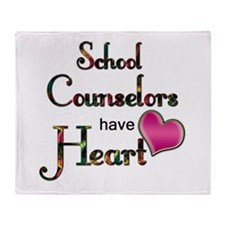 Teachers Have Heart counselors.png Throw Blanket