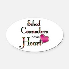 Teachers Have Heart counselors.png Oval Car Magnet