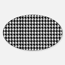 Black & White houndstooth backgroun Decal