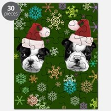 Christmas Boston Terrier Dog Puzzle