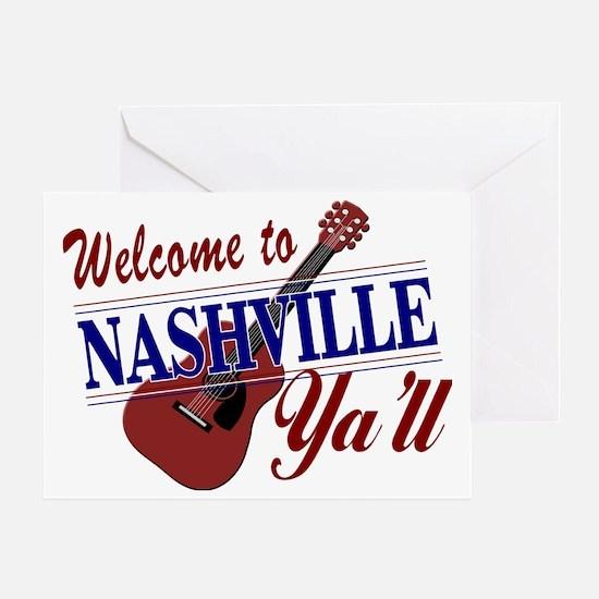 Welcome to Nashville Ya'll-01 Greeting Card