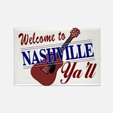 Welcome to Nashville Ya'll-01 Rectangle Magnet