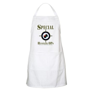 Special Hustler Ops Custom Cue Makers Work Apron by OTC Billiard Designs