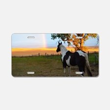 Funny Horse ranches Aluminum License Plate