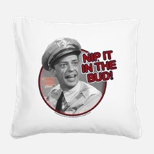Nip It Square Canvas Pillow