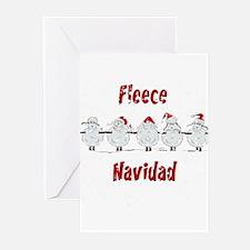 FUNNY Christmas Fleece Navidad She Greeting Cards