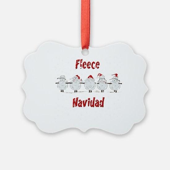 FUNNY Christmas Fleece Navidad S Ornament