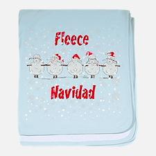 Fleece Navidad FUNNY Sheep Christmas baby blanket