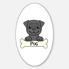 Funny Pug cartoon Decal