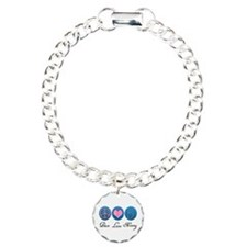 Peace, Love, Nursing Charm Bracelet, One Charm