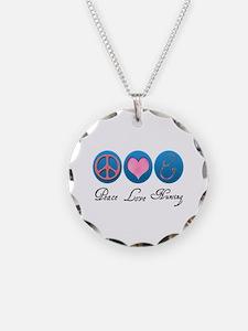Peace, Love, Nursing Necklace