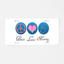 Peace, Love, Nursing Aluminum License Plate