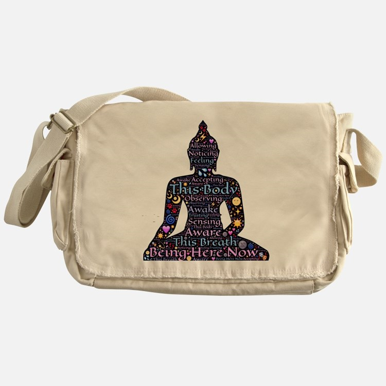 Cute Meditation Messenger Bag