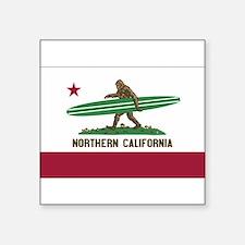 """Cute California state flag Square Sticker 3"""" x 3"""""""