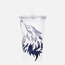 Wolf Acrylic Double-wall Tumbler